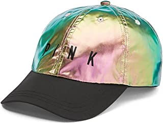 Victoria's Secret PINK Hat Baseball Cap SPORT CLIP, Iridescent Foil