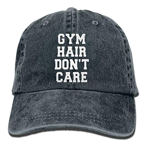 Caps big Funny Gym Hair Don't Care Adulto Cowboy Hat