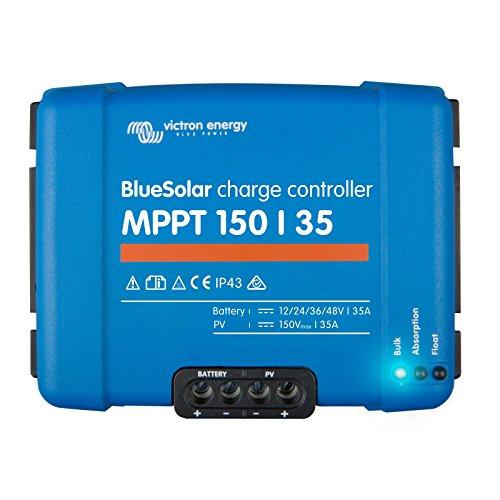 Victron BlueSolar MPPT 150/35 35A Solarladeregler für Solarmodule bis 500W (12V)/1000W (24V)/1500W (36V)/2000W (48V) bis 150V