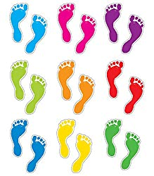 Carson Dellosa Footprints Cut-Outs