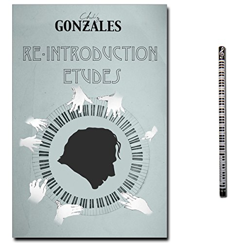 Music Sales Chilly Gonzales Re-Introduction Etudes - 24 Klavierstücke mit Poster (Knight Moves), Audio-CD + Pianobleistift