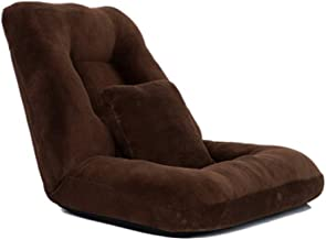 LJBH Lazy Couch, Foldable Single Small Sofa Bed Lazy Chair Bay Window Backrest Chair comfortable, no fading (Color : Dark ...