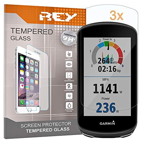 REY 3X Protector de Pantalla para Garmin 1030, Cristal Vidrio Templado Premium