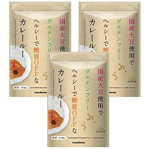 マルコメ ダイズラボ 大豆粉のカレールー グルテンフリー 【中辛】 120g×3袋