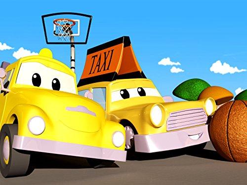 Klein Jeremy das Taxi stößt sich am Basketballkorb / Marley der Monstertruck hat einen Unfall auf dem Dach!