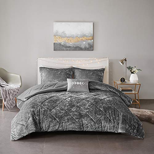 Intelligent Design Felicia Luxe Comforter Velvet Lush Double Sided Diamond Quilting Modern All...