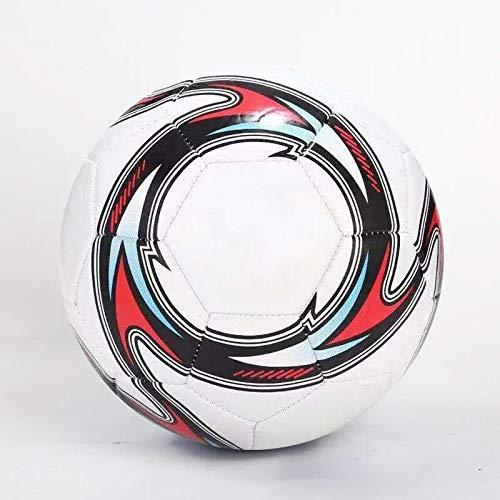 Rarlon Thermisch gebundener Fußball Ball Größe 5 Profi Match Fußball Anti Rutsch Fußballspiel im Innen und Außenbereich Fußball (Weiss)