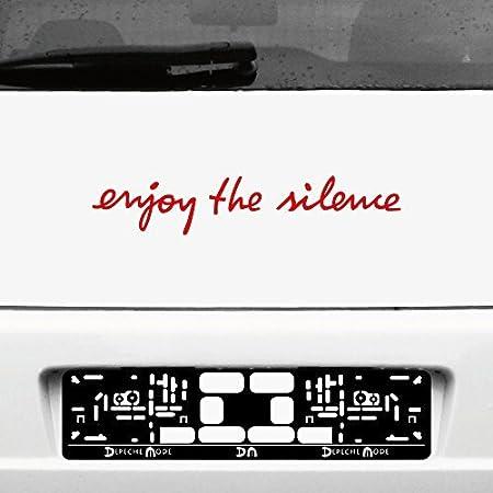 Greenit Schriftzug Enjoy The Silence Aufkleber Tattoo Die Cut Car Decal Auto Heck Deko Folie Depeche Mode Schwarz Auto