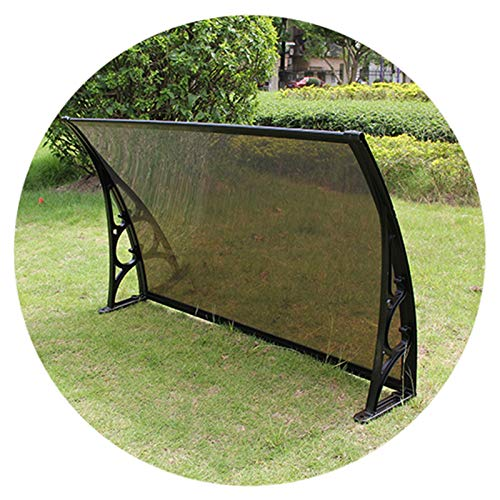 LICHUN Awning Rain Door Canopy, Rainproof Sunscreen Silent PC Endurance Board, Strong Load-bearing House Curtain And Eaves (Color : C, Size : 60X120CM)