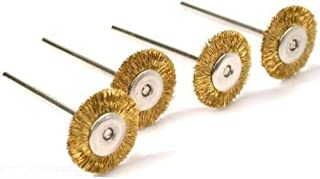 20pcs Dia 25mm Rotary Tool Brass Wheel Wire Brush Set - Fits Dremel ,1/8 Shank ,Clean, Polish, Prep by Preamer