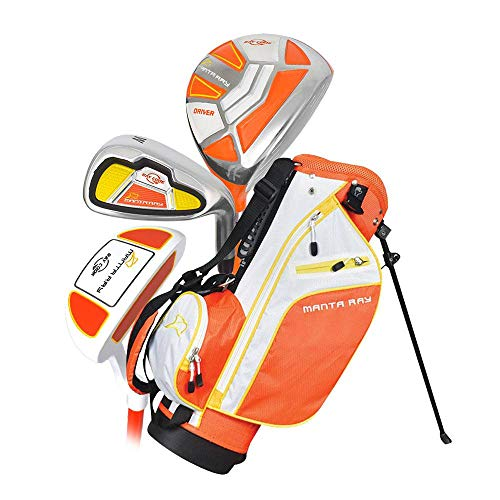 Ray Cook Manta Ray Junior 5-Piece Set with Bag Ages 3-5 (Orange/Yellow)