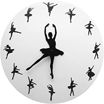 Andifany Ballet Temps Horloge Murale Ballerine Danseuse Ballet Horloge Decorative Montre Murale Filles Chambre Danse Studio Decor Ballet Danseuses Cadeau Amazon Fr Cuisine Maison