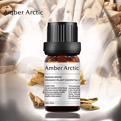 AMBER ARCTIC Sandelholz Ätherisches Öl für Diffusor, 100% Reines Frisches Bio-Pflanzentherapie Sandelholz Öl 10 ml