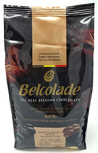 Belcolade Ecuador 71% gocce di Cioccolato fondente Extra Bitter 1kg