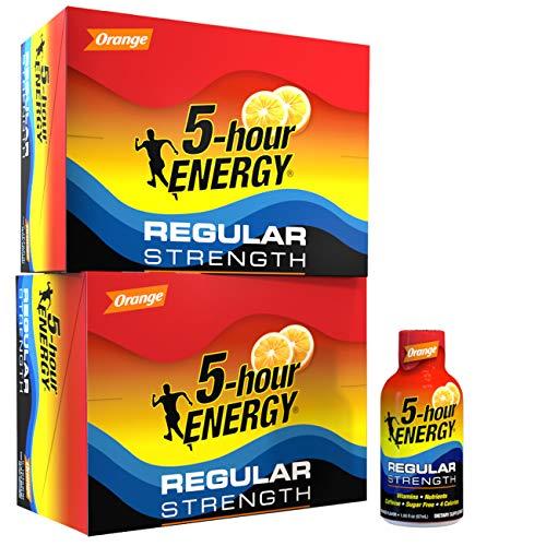 5-hour ENERGY Shot, Regular Strength Orange, 1.93 oz., 24 pack