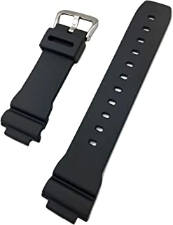 Black Diamond | 16mm Black G Shock Style, Rubber Polyurethane (PU) Material Watch Band | Comfortable, Smooth, Durable Replacement Wrist Strap That Brings New Life to Any Watch (for Men and Women)