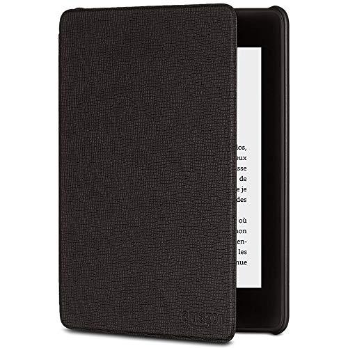 Étui Amazon en cuir pour Kindle Paperwhite (10ème génération - modèle 2018), Noir