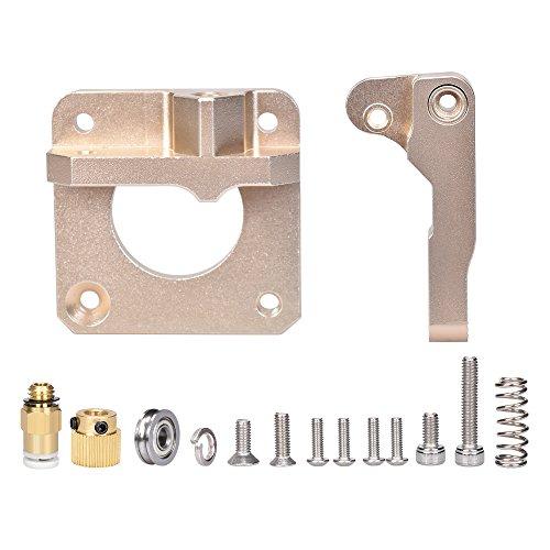 PoPprint MK8 Extrusora mejorada CR-10 de aleación de aluminio extrusora Bowden para filamento de 1,75 mm (oro)