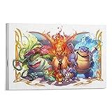 AAOO Póster de Fond D Ecran Pokémon sobre lienzo, impresión artística moderna para habitación familiar, 12 x 18 pulgadas (30 x 45 cm)