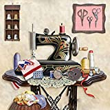 BAIYUYA Peinture par Nombre pour Senior Junior Débutant Niveau Machine À Coudre Art...