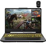 "2021 Flagship ASUS TUF Gaming A15 VR Ready Laptop 15.6"" FHD Display AMD 8-Core Ryzen 7 4800H (Beats I7-9750H ) 32GB RAM 512GB SSD 1TB HDD GeForce RTX 2060 6G Backlit USB-C Win10 + iCarp Wireless Mouse"