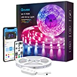 Govee Smart LED Strip Lights, 16.4ft Wi-Fi LED Light Strip with App and Remote Control, Works with Alexa and Google Assistant, Music Sync RGB Lights for Bedroom, Kitchen, TV, Party