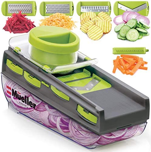 Mueller Mandoline Slicer Premium Quality V Pro Five Blade Adjustable Vegetable Slicer Cutter product image