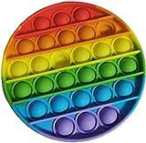 Cylme Push pop Bubble Sensory Fidget Toy, Autism Special Needs Stress Reliever Anxiety Relief Toys, Extrusion Bubble Fidget Sensory Toy (Rainbow)