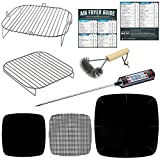 Air Fryer Accessories Compatible with Emeril Lagasse, Cosori, NuWave Brio, Dash, Power Airfryer Oven, Secura, Philips XL, Bagotte, BCP, Kuppet +More | Grilling Rack Tool Set