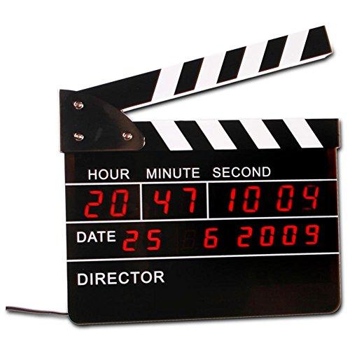 Reloj Despertador Digital Claqueta de Cine