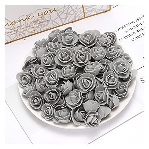 JINQIANSHANGMAO Künstliche Blumen Rosen realistische gefälschte Rosen, künstliche gefälschte Blumen, Rosen DIY Geschenk Künstliche Blumen Neue Jahr Weihnachtsdekoration für zu Hause (100 stücke)