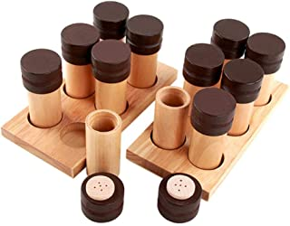 simhoa Montessori Baby Smell Tubes Wooden Base Set Sensorial Toy Educational