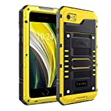 Beeasy Case Compatible for iPhone SE 2020 Yellow,