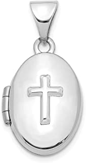 Sonia Jewels Sterling Silver Angel Medal Pendant Charm 12mm x 16mm