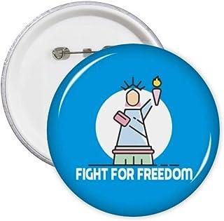Independent American Freedom Right Pins Badge Badge Emblème Accessoire Décoration 5pcs