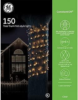 GE ConstantON 150 Clear Tree Trunk Net Lights