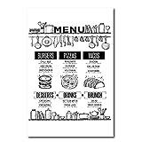Pizza Rezept Essen Broschüre Wand Kunstdruck und Poster,