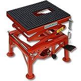 Cruizer - Caballete central hidráulico elevador moto cross trial enduro de metal de color rojo para mantenimiento, carga máxima 135 kg.