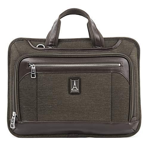 Travelpro Unisex's Platinum Elite Slim Business Computer Brief Briefcase, Rich Espresso, One Size
