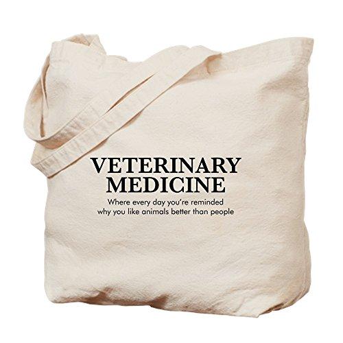 CafePress Veterinärmedizin Tiere Better Than P Tragetasche, canvas, khaki, M