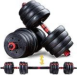 Sportstech Jeu d'haltères innovant 2en1 AH150 | haltères de 20kg, 30kg, 40kg | Serrure de...