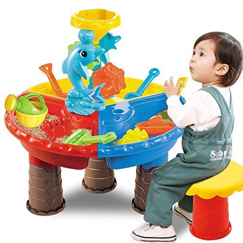 Juego de juguetes para la arena de playa, juego de arena para niños, mesa de arena para la playa, agua, jardín al aire libre, juego de herramientas de pala, juego de herramientas para exteriores