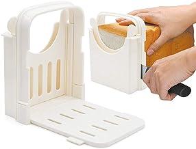 Trancheuse à pain Amyhome - Réglable - Guide de coupe pour toast - Pliable - 5 épaisseurs