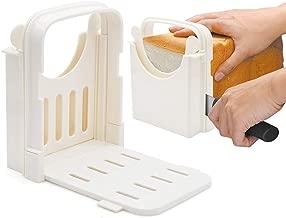 Amyhome Bread Slicer,Adjustable Toast Slicer Toast Cutting Guide Folding Bread Toast Slicer Bagel Loaf Slicer Sandwich Maker Toast Slicing Machine with 5 Slice Thicknesses