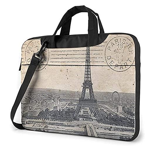 AOOEDM Bolso para computadora portátil de la Torre Eiffel de París, bolso de mensajero con correa para el hombro de 13 pulgadas, bolso para computadora, maletín para la escuela de ingeniería