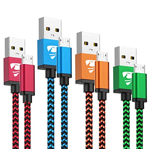 Micro USB Cable Aioneus Fast Android Cord Charger Cable 4Pack [2FT,...