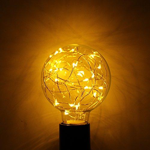 Winbang Bombilla de luz LED, luz decorativa estrellada de la base del...