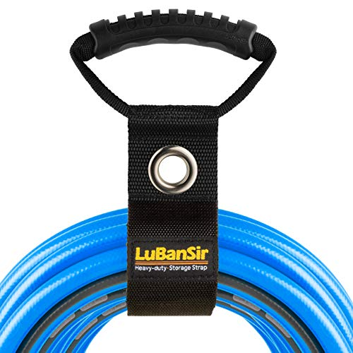 """LuBanSir 3 Pack Extension Cord Organizer, 22"""" Portable Hook and Loop Storage Straps with Grommet Fit Extension Cords, Cables, Ropes, Garden Water Hoses Carrying and Hanging"""