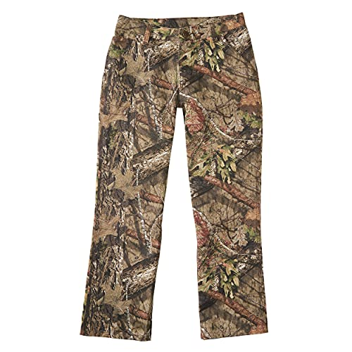 Carhartt Boys' Little Washed Dungaree Pants (Lined and Unlined), Mossy Oak, 7