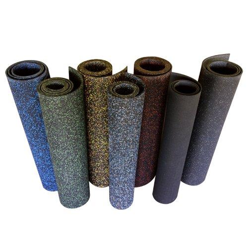 Rubber-Cal Elephant Bark Floor Mat, Green Dot, 3/16-Inch x 4 x 13-Feet